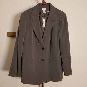 NWT Gray Plus Size Blazer Work Career Wear